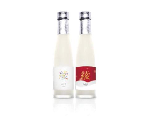 微発泡純米うすにごり生酒 綾 夏バージョン(右)冬バージョン(左)